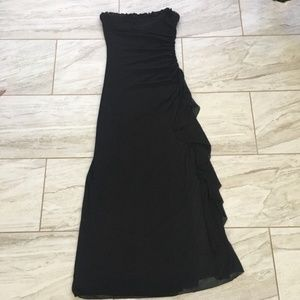City Triangles Black Formal Strapless Maxi Dress M
